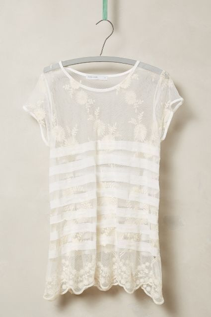 Chopin Lace Tee - anthropologie.com