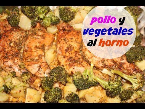 Pollo al horno con vegetales (cena completa en una hora!)| Cocinando con...