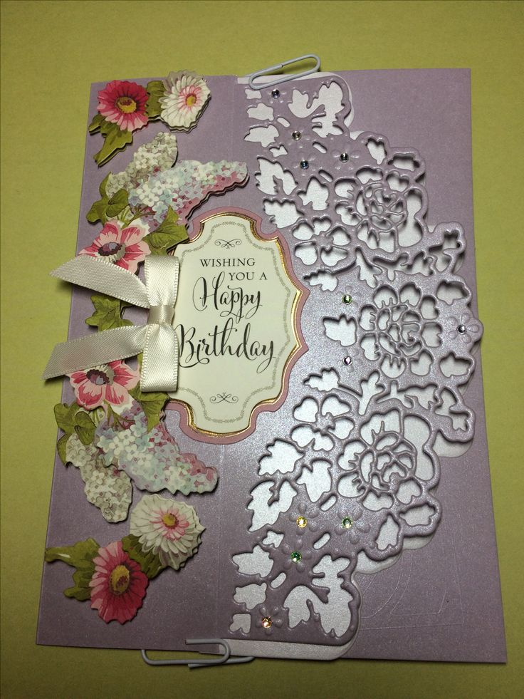 Card featuring Anna Griffin Decorative Border Dies