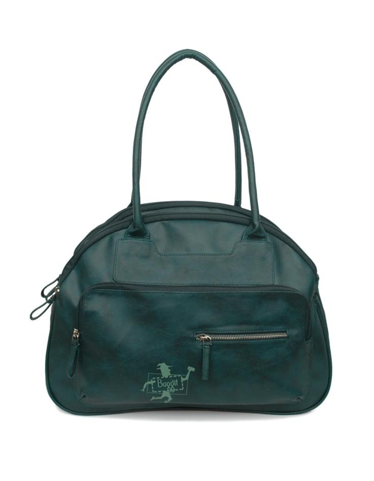 An aqua blue Baggit handbag.