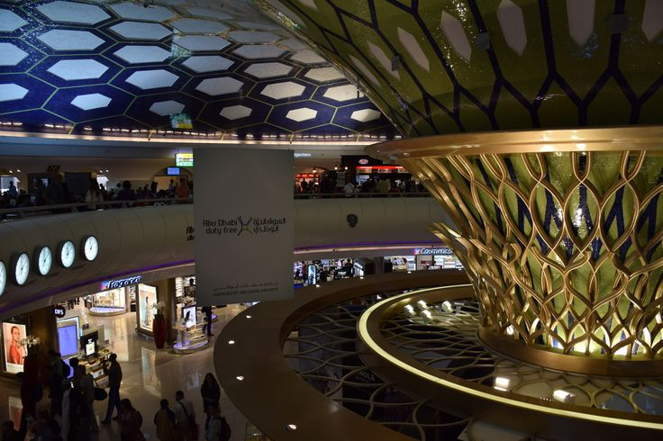Abu Dhabi International Airport with its beautiful (too often crowded) gate terminus