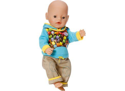 BABY BORN dukkeklær - blå Turkis hettegenser