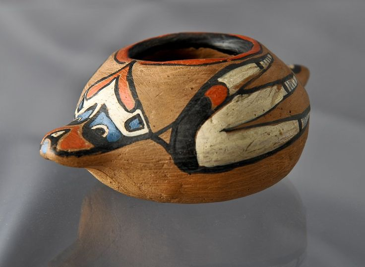 Hand Painted Klee Wyck Bowl. 1924-30. Emily Carr. AGGV 2009.018.001