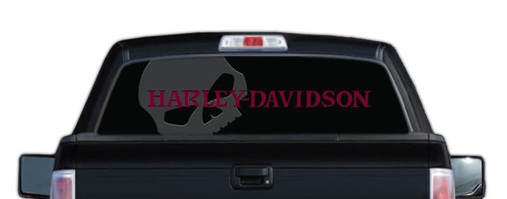 70029 Harley Davidson 174 Rear Window Graphic Decal Red