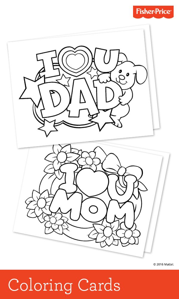 Valentine's Day is only a few weeks away! Kids can get an early start on their gift for Mom or Dad with these cute printable cards. Look for this, and other seasonal crafts, at Fisher-Price.com