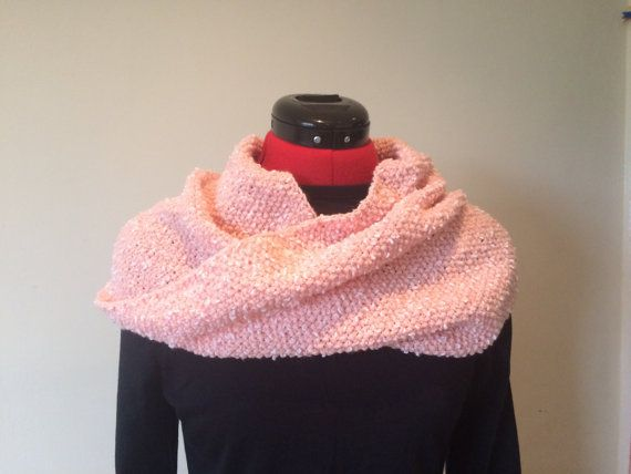 Infinity Hand Knitted Scarf  Ladies Scarf  by MarianaPandi on Etsy