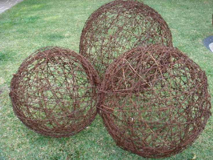 barbed wire balls, just need some one with skill to make them!                                                                                                                                                     More