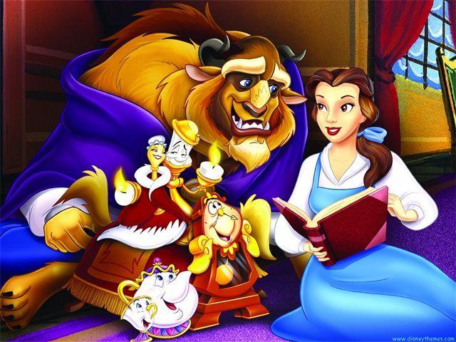 仲間と仲良く♪ ディズニー美女と野獣イラスト                                                                                                                                                                                 もっと見る