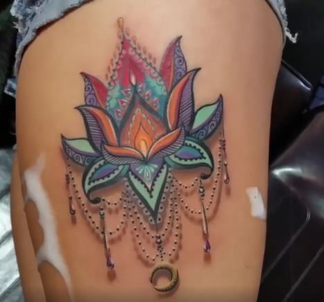 Image result for lotus chandelier tattoo