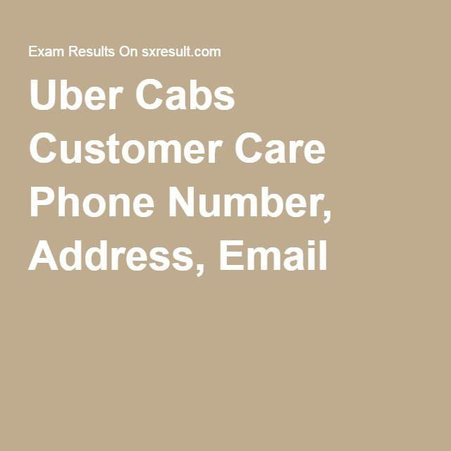 Uber Cabs Customer Care Phone Number, Address, Email
