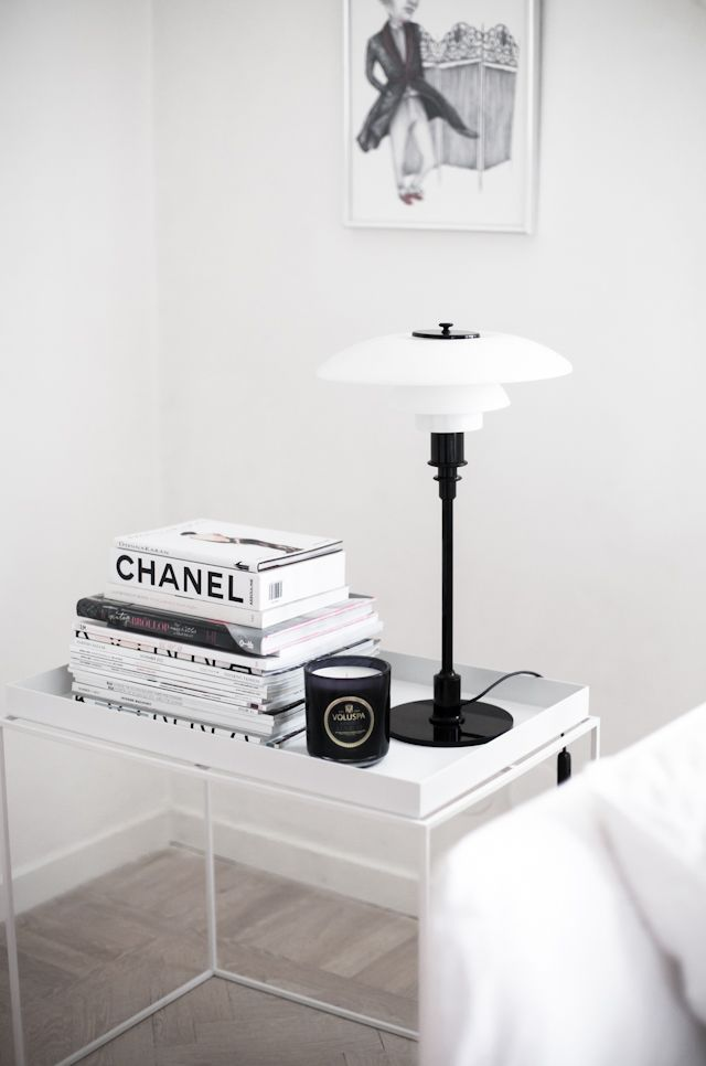 White tray table by Hay via The House of Philia.