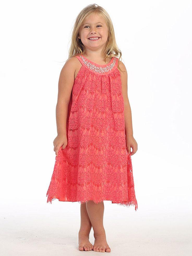 25 best Orange & Coral Flower Girl Dresses images on ...