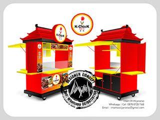 Desain Logo   Logo Kuliner    Desain Gerobak   Jasa Desain dan Produksi Gerobak   Branding: Desain Gerobak Fried Chicken Kchick