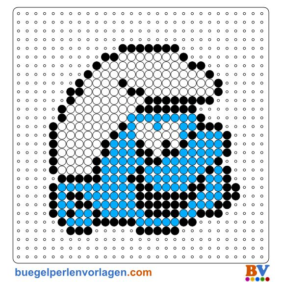 The Smurfs Perler Bead Pattern. Download more patterns at: http://www.buegelperlenvorlagen.com/en