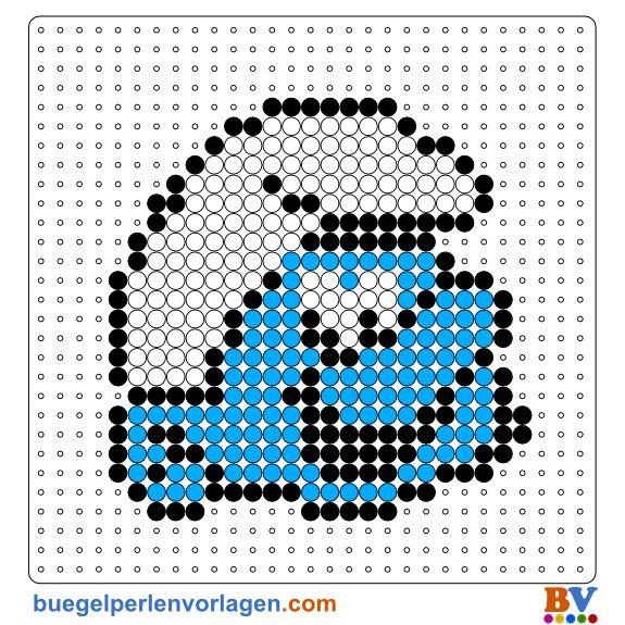 The Smurfs Perler Bead Pattern. Download more patterns at: http://www.buegelperlenvorlagen.com/en