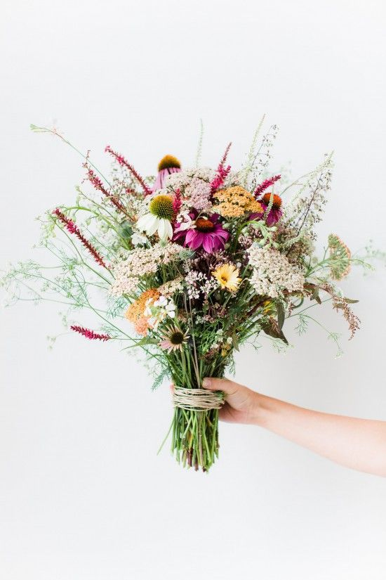 grab some wildflowers from your yard and put them into a vase