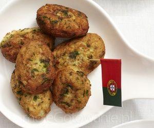 Portugalskie Pasteis de Bacalhau - krokiety z dorsza  Miód Malina Studio