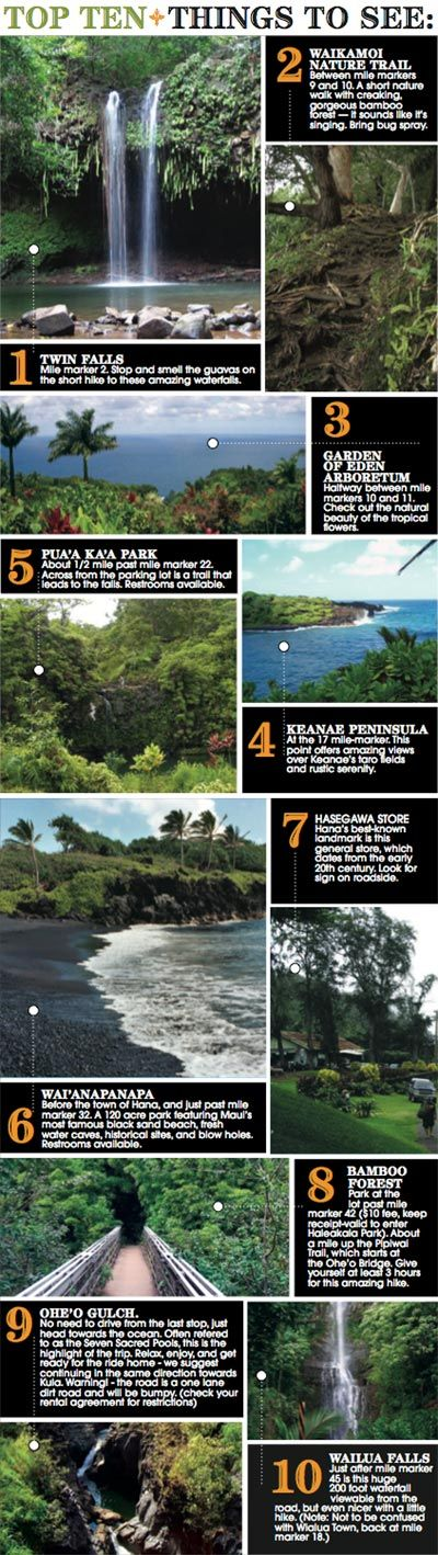 "The Road to Hana : Top Ten Tips- Road to Hana, Maui- only one radio station could be heard on the Road to Hana on our honeymoon... A rarely played Eagles song which by coincidence or fate was our song for our first Dance at our wedding reception began to play ""Love Will Keep Us Alive"""