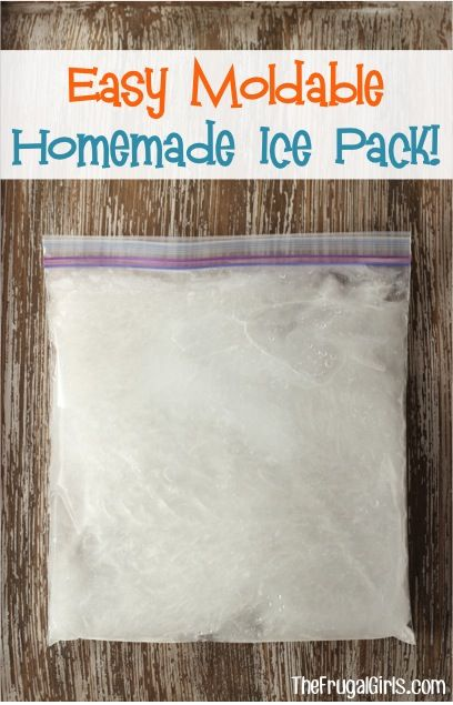 Easy DIY Homemade Moldable Ice Pack! ~ from TheFrugalGirls.com #icepack #thefrugalgirls