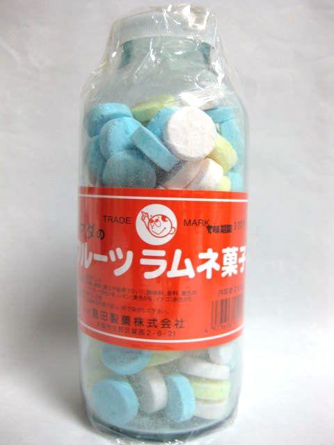 シマダの大瓶フルーツラムネ菓子