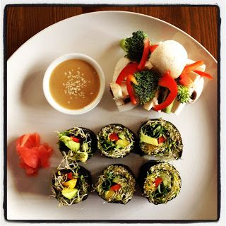 Sushi and Salad with Tahini & Tamari Dressing