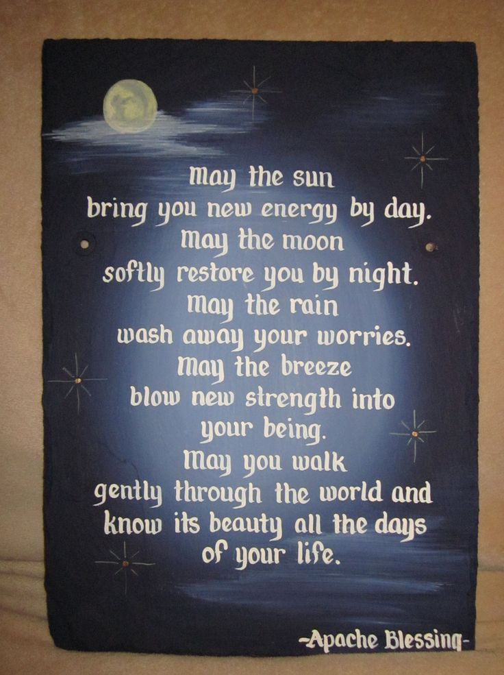 Handpainted Apache Blessing Wedding Anniversary Slate Sign