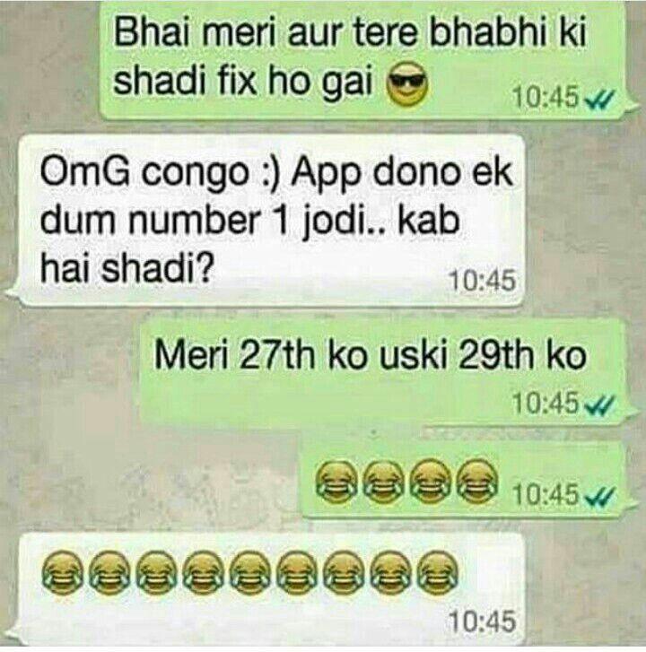 Hahahahhahahah... Shaadi Mubarak..