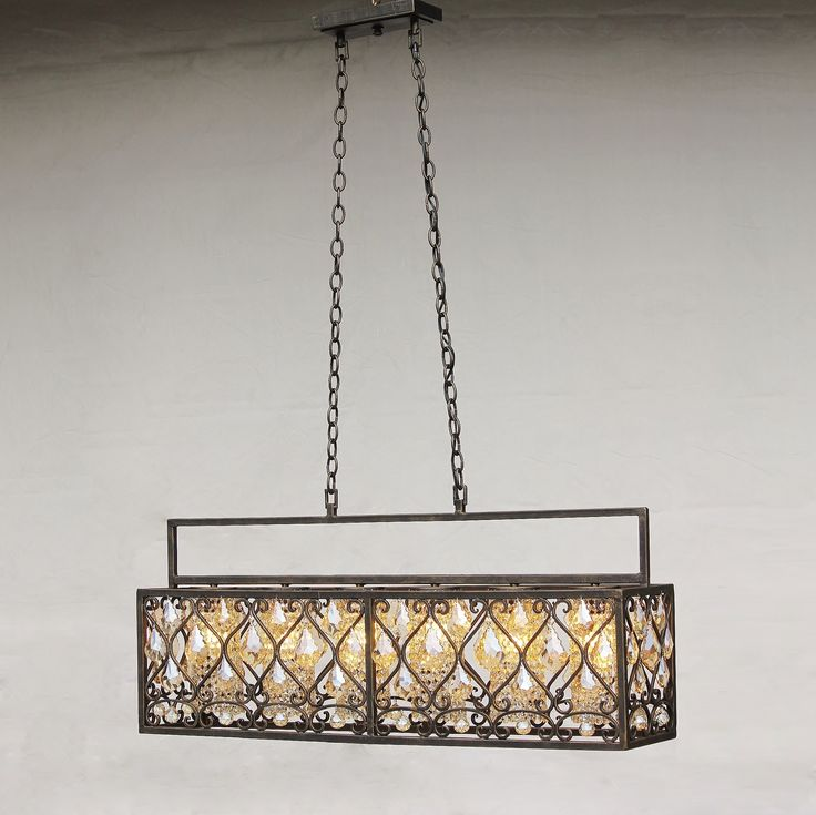 Contemporary Spanish Revival Style Wrought Iron Chandelier