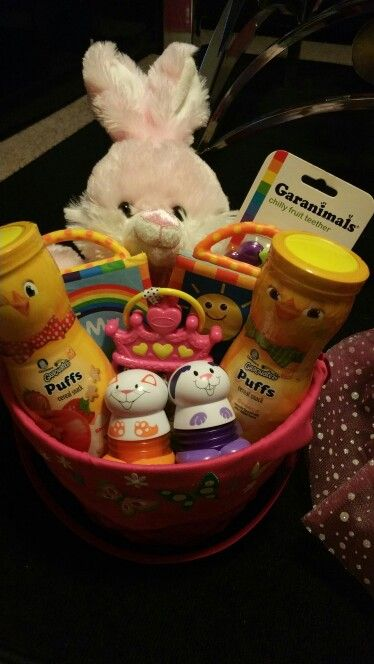 219 best easter baskets images on pinterest barbie doll basket i made this easter basket for my daughter she is only 7 months but i negle Image collections