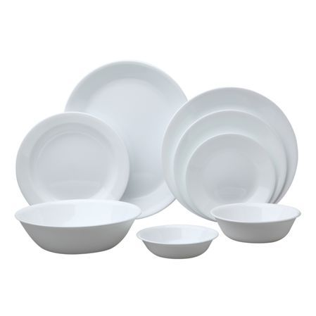 CORELLE® Livingware™... The original break and chip resistant glass dinnerware...Simple, Cheap, Hard to Break, Easy to Replace