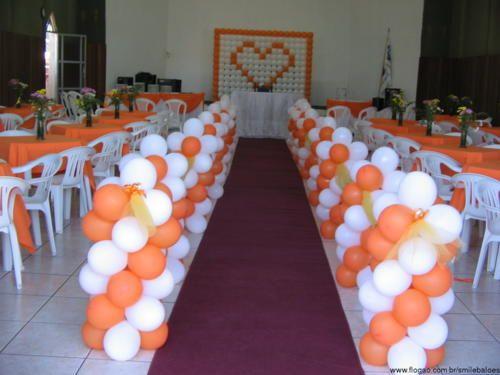 arranjos e decoração com balões para casamento - Pesquisa Google