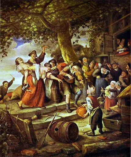 Jan Steen, Drunken Woman