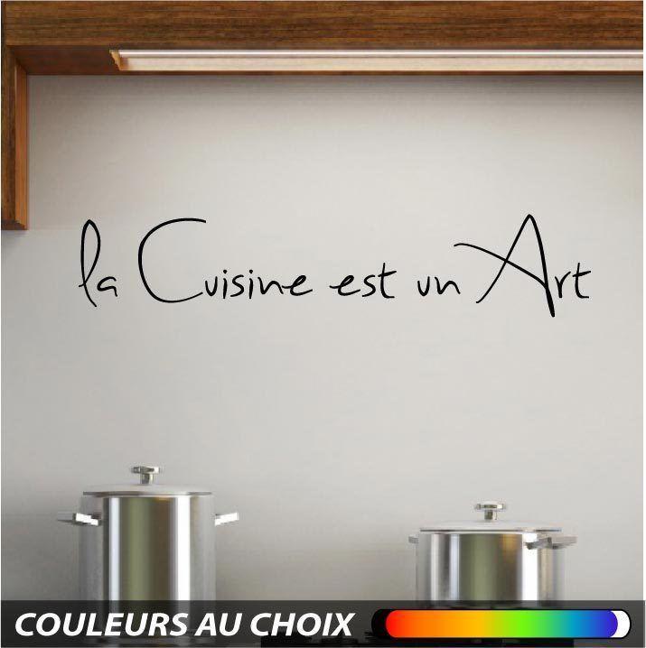 Wall sticker decal art mural Cuisine texte citation muraux