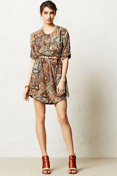 Paisley Palette Shirtdress #anthropologie
