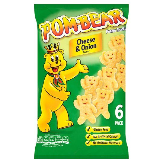 Pom Bear Cheese And Onion Snacks 6X19g