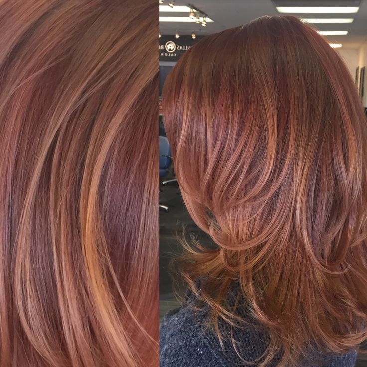 Red and copper toned balayage highlights hair by Carley Throgmorton Smedley, IG: @saltcityhair at Dallas Roberts Salon in West Jordan, Utah. Red Hair, Copper highlights.