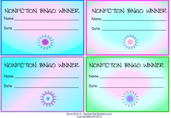 Kids have fun learning nonfiction elements as they play Bingo. Winners put their coupons in the Bingo jar and win prizes! priced itemLiteracy Reading, Learning Nonfiction, Ideas, Plays Bingo, Nonfiction Reading, Bingo Jars, Fun Learning, Nonfiction Elements, Price Items