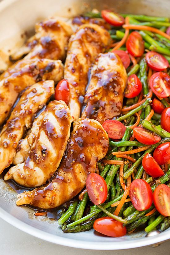 One Pan Balsamic Chicken and Veggies - this is one of the easiest dinners I've ever made and we all LOVED it!!