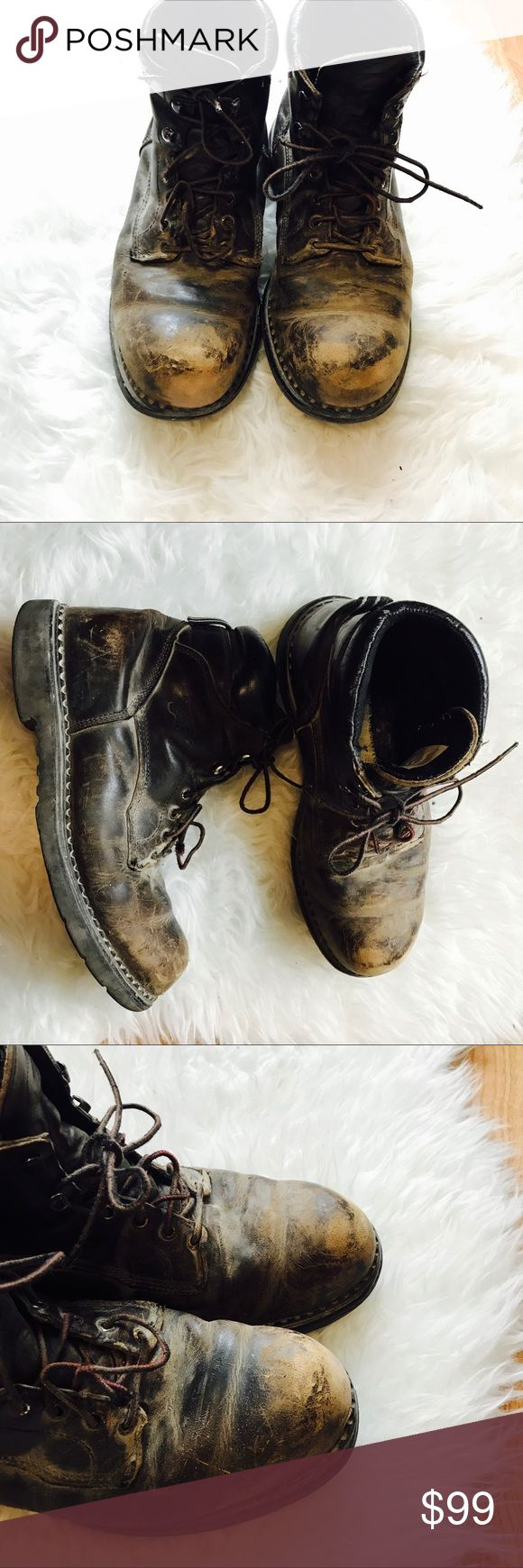 Red Wing 6 inch steel toe boots Wear as shown . Insoles Needed . No trades. Red Wing Shoes Shoes Boots