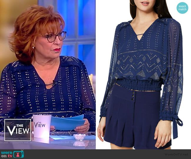 Meghan Mccain The View Joy Behar: Joy's Blue Embellished Blouse On The View In 2019