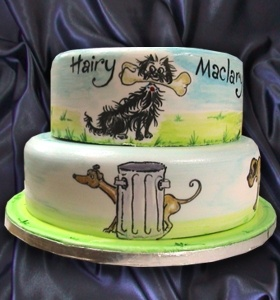 Two Tier Handpainted Hairy Maclary Cake (Wow- and then I saw the price WOW!)