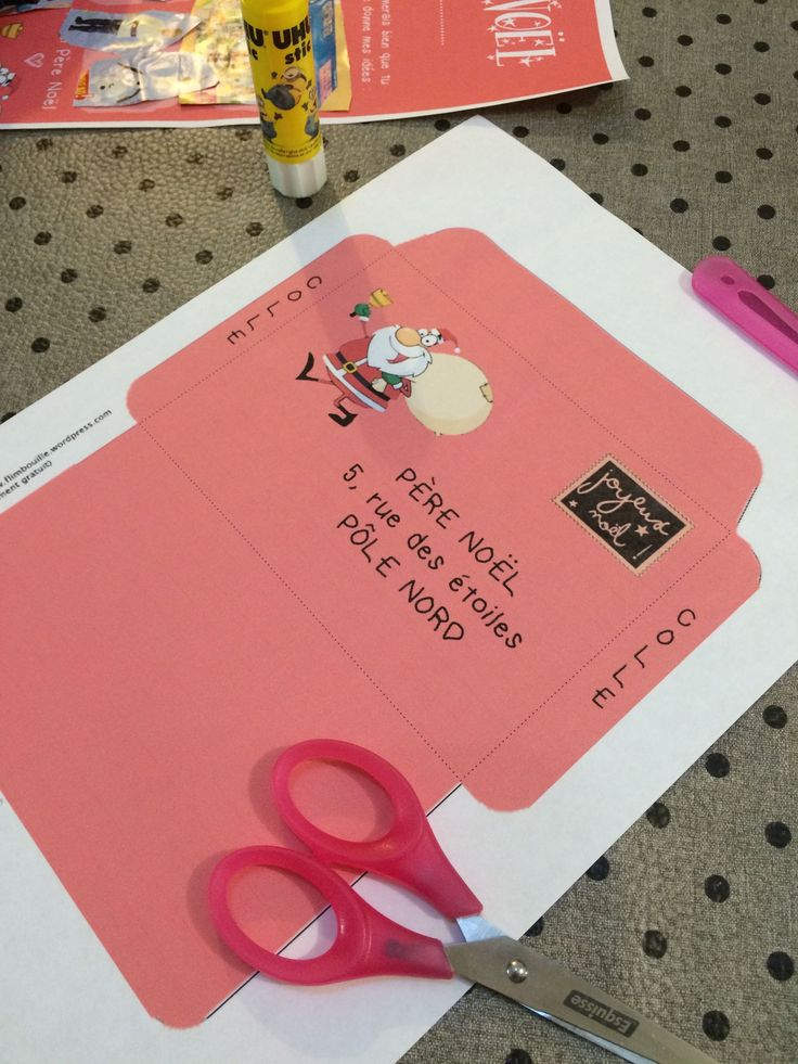 La lettre au Père Noël à imprimer ❤️ (et son enveloppe assortie)