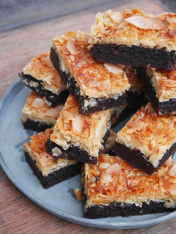 Brownie med kokostosca Brownie with coconut caramel