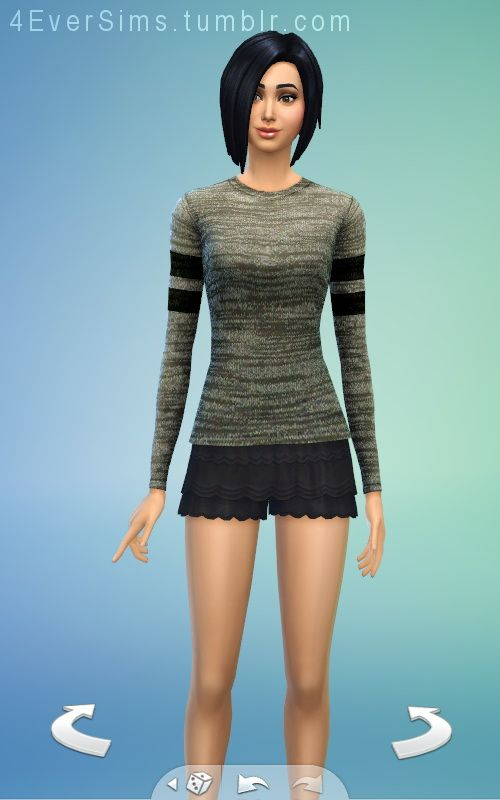 Forever Sims: Grey Distressed Top - Sims 4 Downloads
