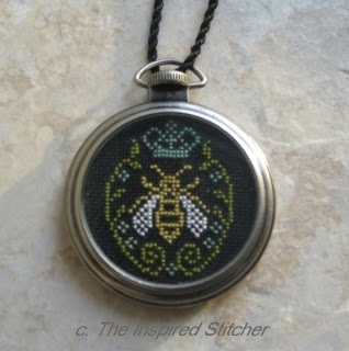 The Inspired Stitcher; Tim Holtz pocket watch from HL