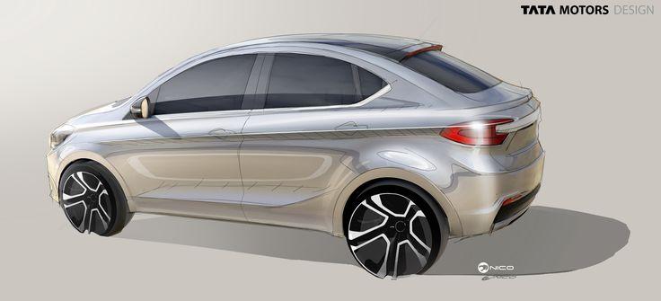 Tata TIGOR - sketch - Tata Motors Design