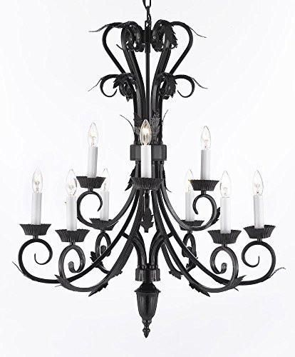 Wrought Iron Chandelier. A Great European Tradition. Nothing is quite as elegant as the fine chandeliers that gave sparkle to brilliant evenings at palaces and