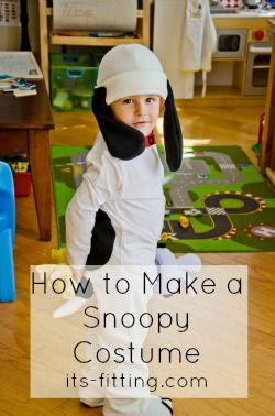 How to Make a Snoopy Costume from Its Fitting (www.its-fitting.com) An awesome Halloween Costume for your little one!