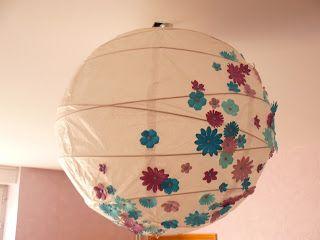 Relooking d'une boule en papier de riz, by Akiko