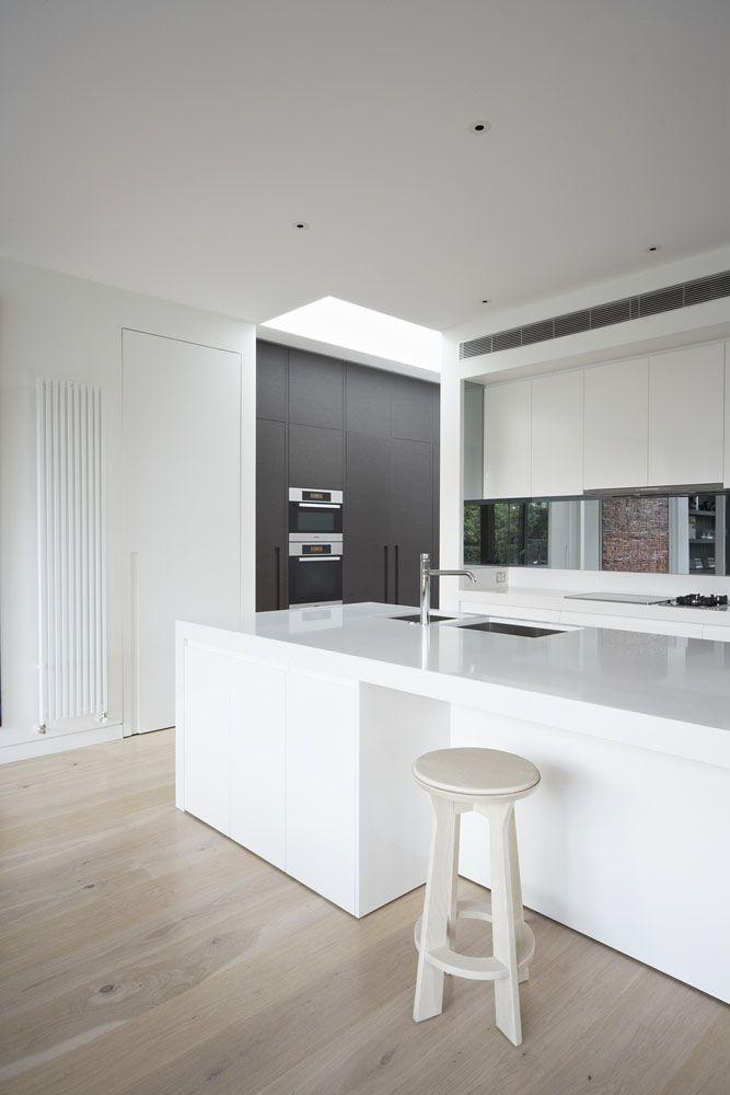 white black kitchen